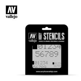 Vallejo Stencils - Digital Numbers