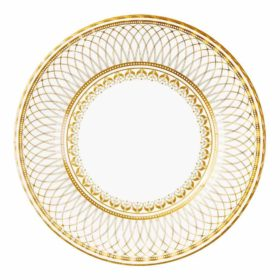 Party Porcelain - large paper plates gold 8stk