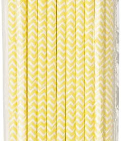 Mix & Match - straws yellow 30pk