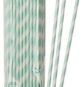 Mix & Match - paper straws mint 30stk
