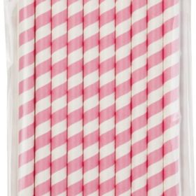 Mix & Match - giant straws pink 10stk