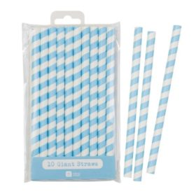 Mix & Match - giant straws blue 10stk