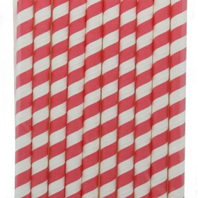 Mix & Match - giant straws red 10stk