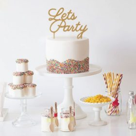 Cake topper - Lets Party