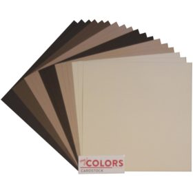 "My Colors Canvas Cardstock Bundle 12""X12"" 18/Pkg - brown tones"