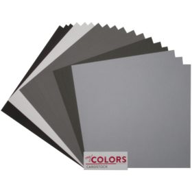 "My Colors Canvas Cardstock Bundle 12""X12"" 18/Pkg - gray tones"