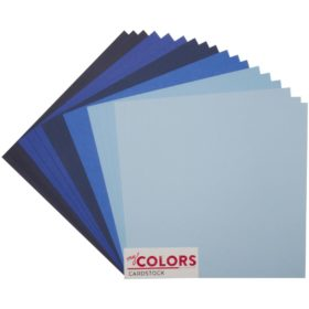 "My Colors Canvas Cardstock Bundle 12""X12"" 18/Pkg - blue tones"