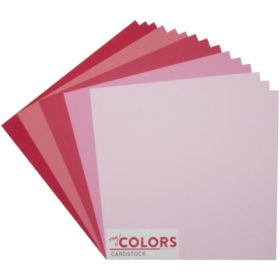"My Colors Canvas Cardstock Bundle 12""X12"" 18/Pkg - pink/red tones"