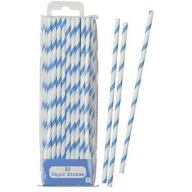 Mix & Match - paper straws blue 30stk