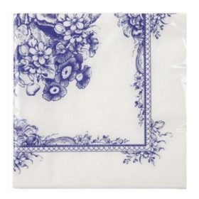 Party Porcelain - napkin blue flowers
